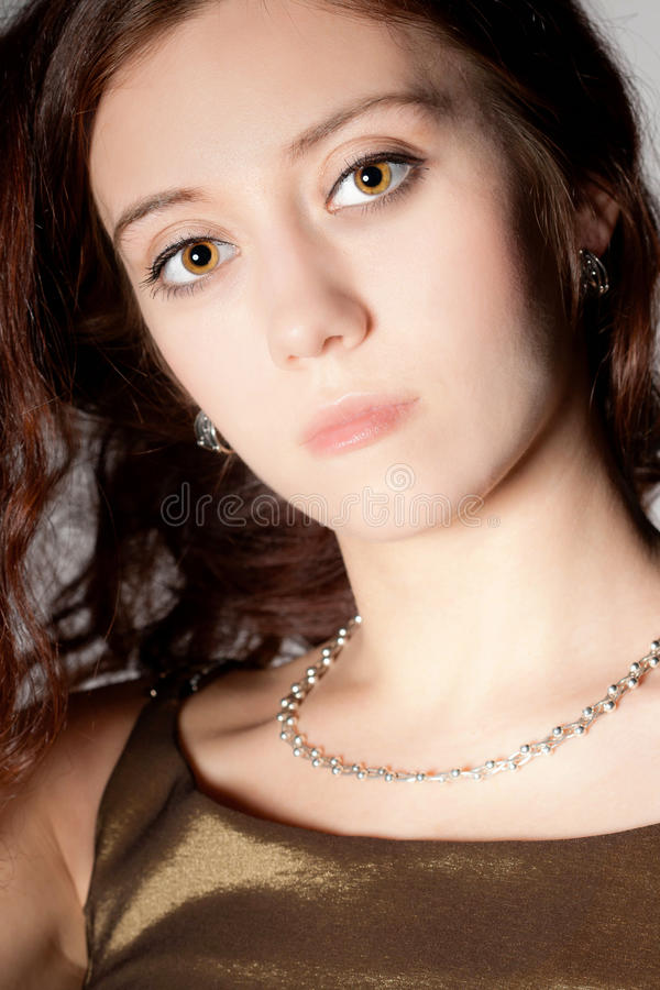 Download Woman portrait stock photo. Image of glamour, golden - 21104060
