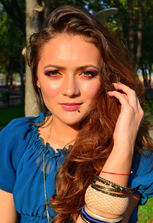 Download Woman portrait stock photo. Image of park, makeup, cosmetic - 27357592