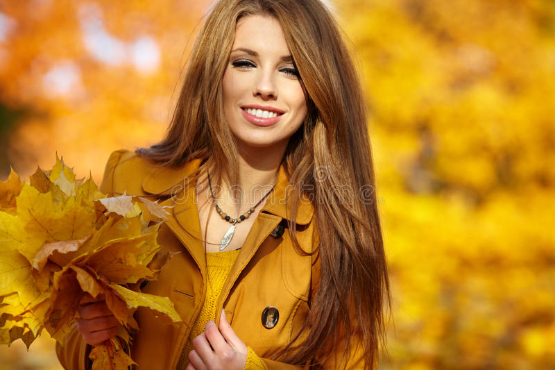 Download Woman Portrait In Autumn Color Stock Photo - Image: 25791576