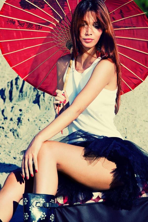 Download Woman Portrait With Parasol Stock Photo - Image: 21148072
