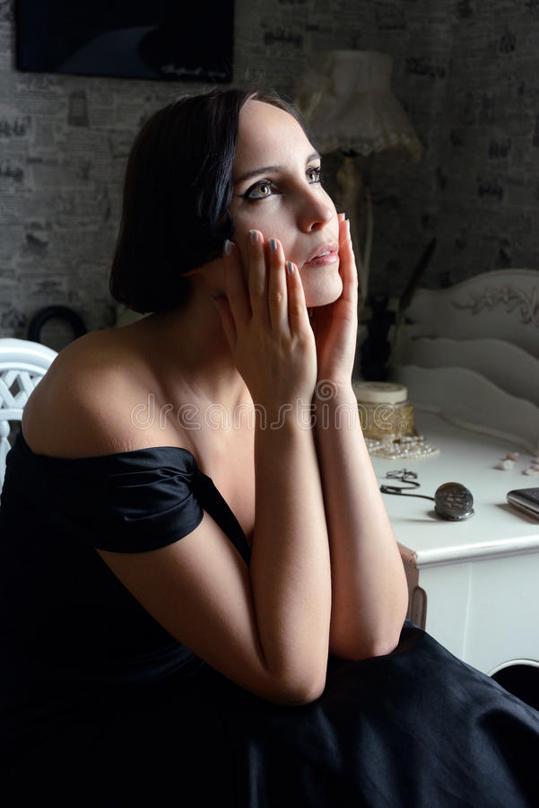 Download Woman Portrait In Retro Style Royalty Free Stock Photos - Image: 28821658