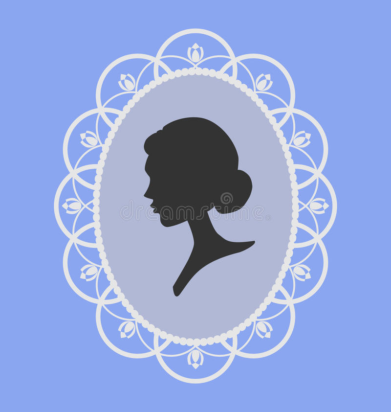 Download Woman portrait silhouette stock vector. Image of design - 23772950