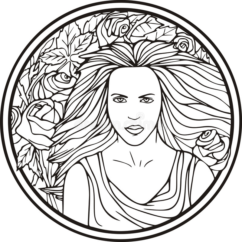 Download Woman portrait, vector stock vector. Illustration of hair - 7017447