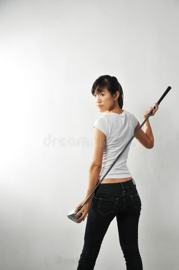Download Woman Portraits stock image. Image of golf, stick, carry - 7948175