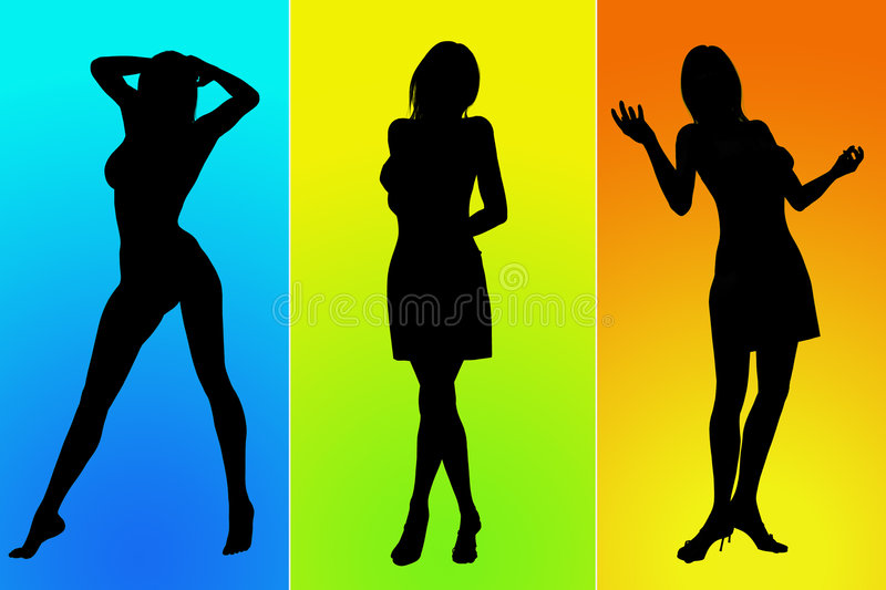 Woman poses stock illustration