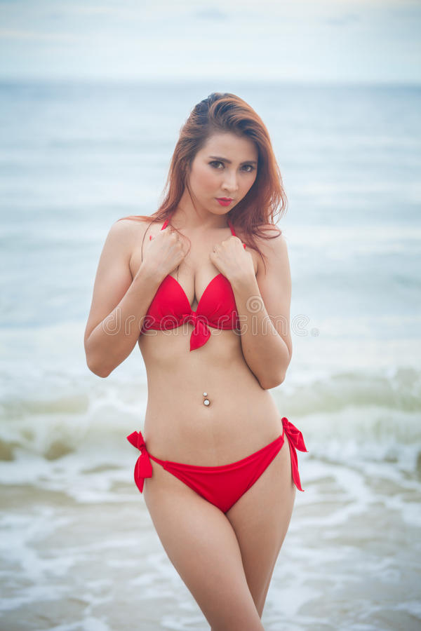 Download Woman posing at beach stock image. Image of sand, holiday - 39110881