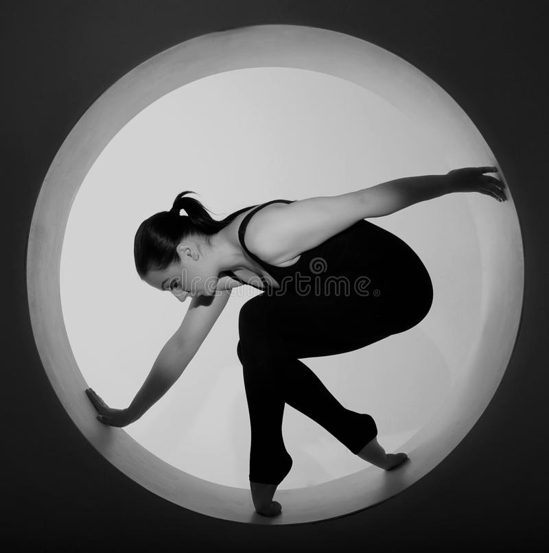 Download Woman Posing In A Circle Royalty Free Stock Photography - Image: 26068307