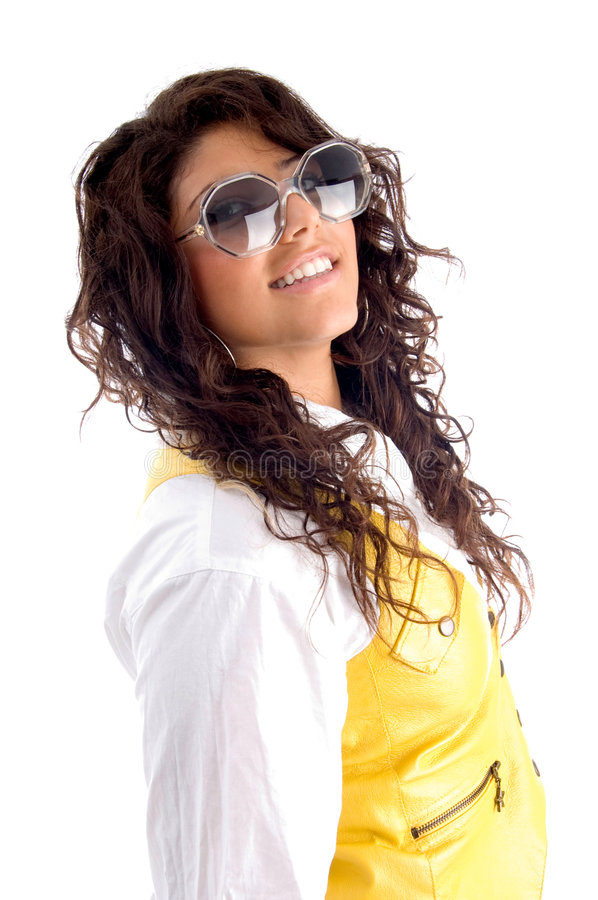 Download Woman Posing With Eyeglasses Stock Image - Image: 6991571