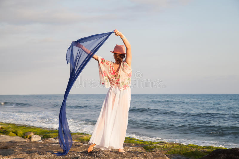 Woman posing stock images