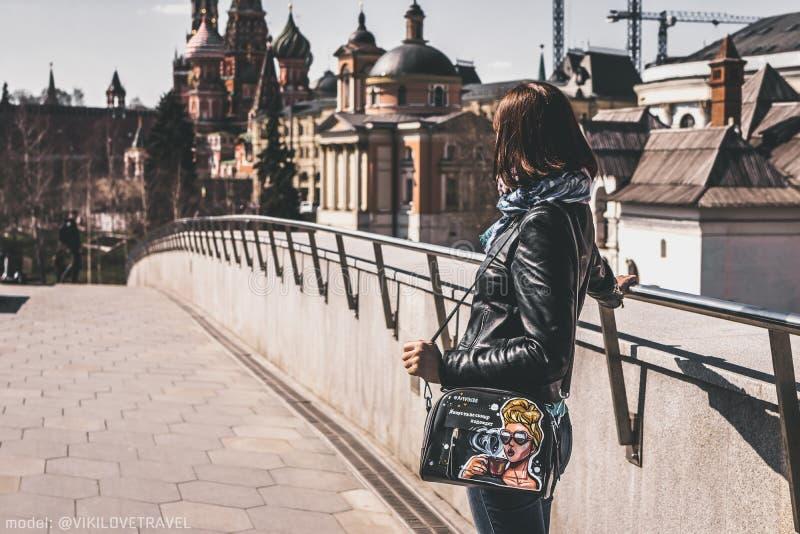Woman Posing, Moscow Kremlin Free Public Domain Cc0 Image
