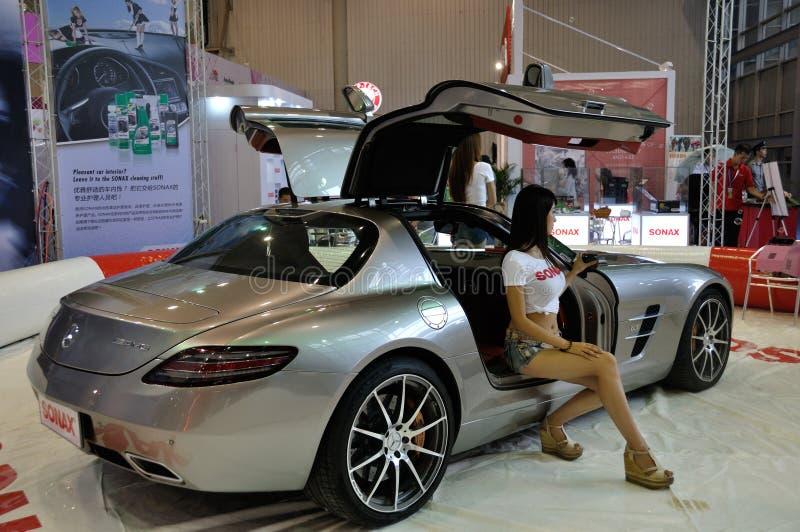 Download Woman Posing Near Car At Chengdu Motor Show 2012 Editorial Image - Image: 26462235