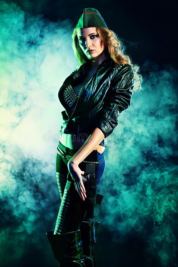 Download Woman posing stock image. Image of defence, erotic, danger - 31931445