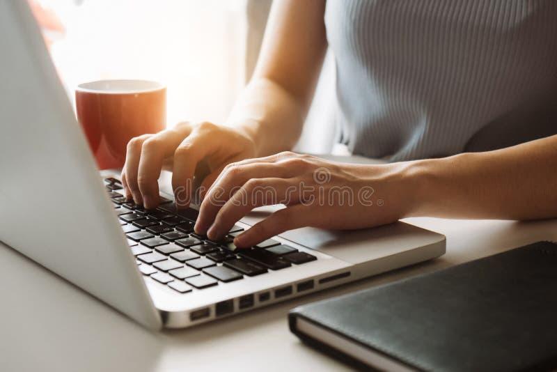Digital marketing media in virtual screen. stock photos