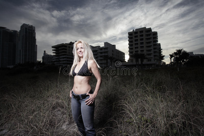 Download Woman Posing In The Sand Dunes Stock Photo - Image: 13826236