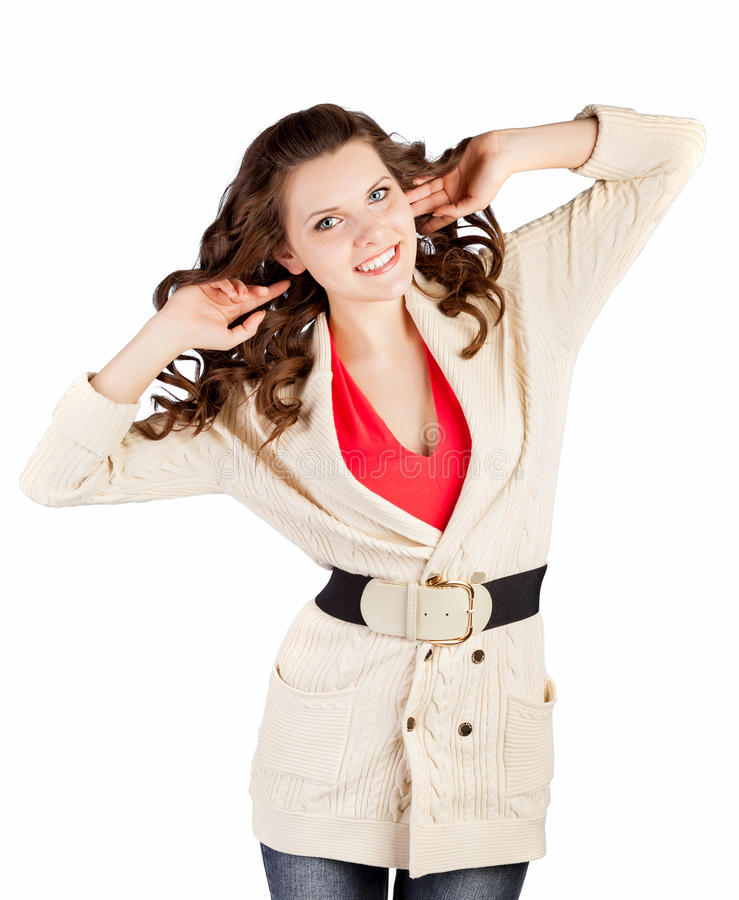 Woman is posing royalty free stock photo