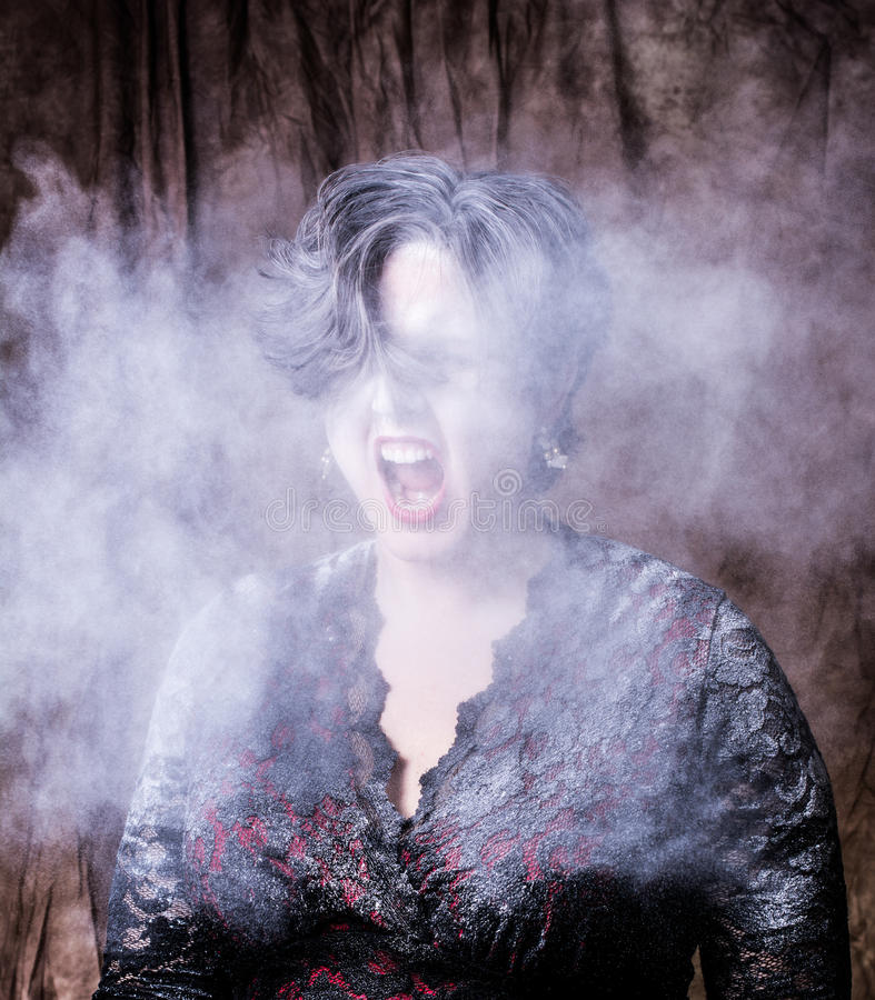 Woman with Powder royalty free stock photography