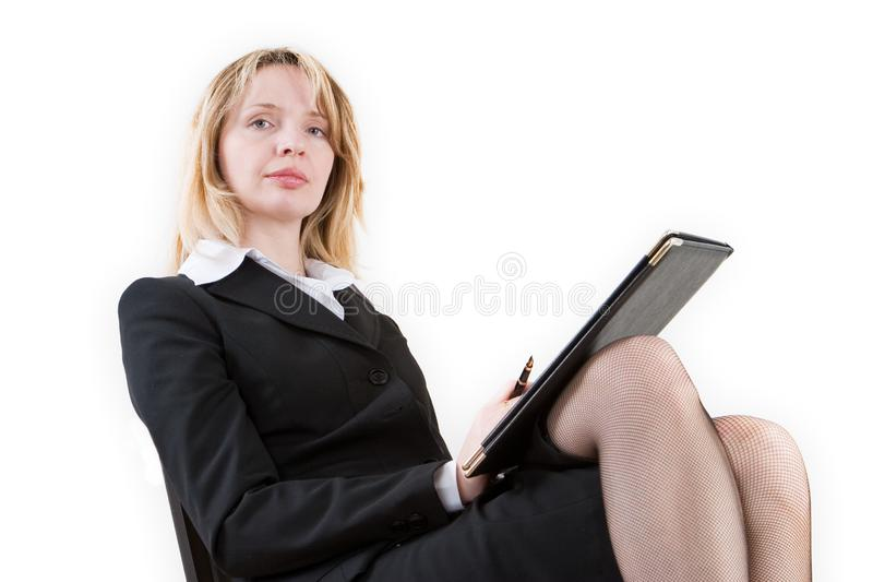 A woman with power royalty free stock image