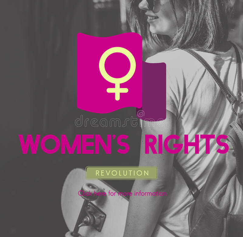 Woman Power Feminist Equal Rights Concept royalty free stock image