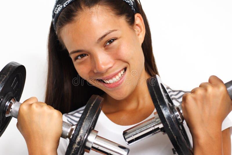 Woman power strength training