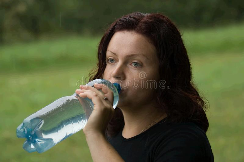 Woman and practice stock image