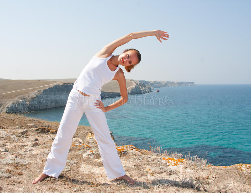 Download Woman practices Yoga stock photo. Image of enjoyment - 15814110