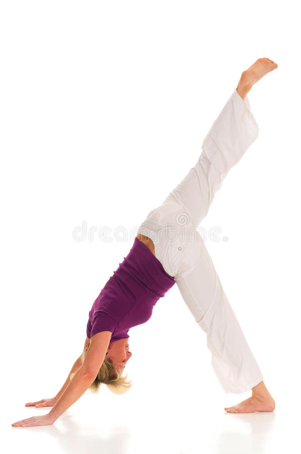 Download Woman practicing yoga stock photo. Image of fitness, sport - 19043770