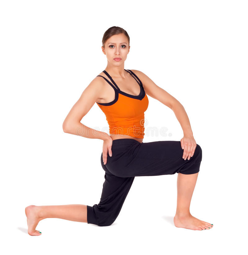 Download Woman Practicing Yoga Exercise Stock Image - Image: 15225567