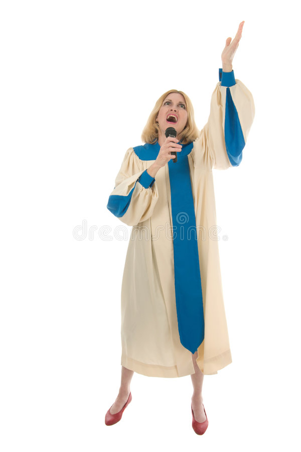 Download Woman Praise Lead Singer 1 stock image. Image of leader - 1892063