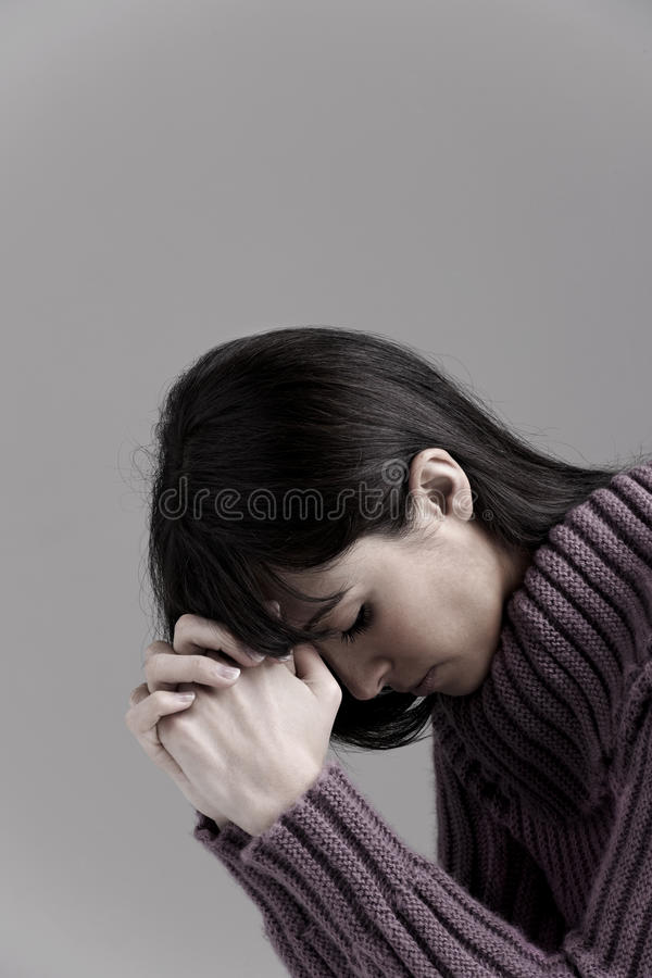 Download Woman praying stock photo. Image of love, person, color - 18978376