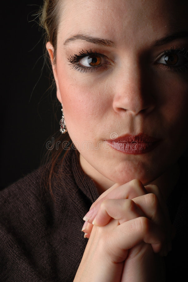 Download Woman praying stock image. Image of woman, religious, belief - 3961649