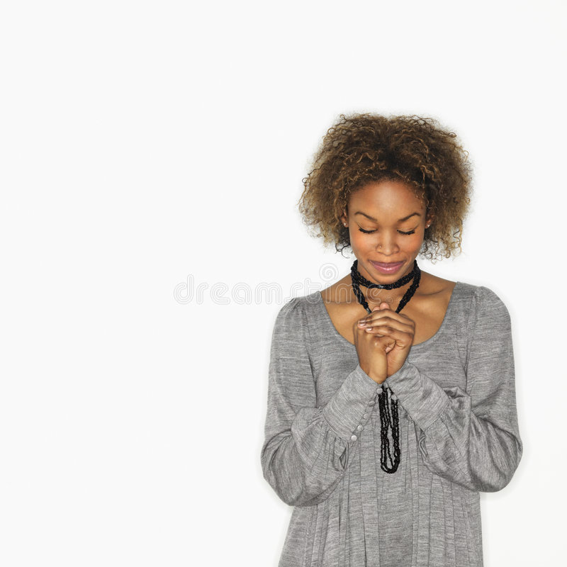 Free Woman Praying Royalty Free Stock Image - 4416286