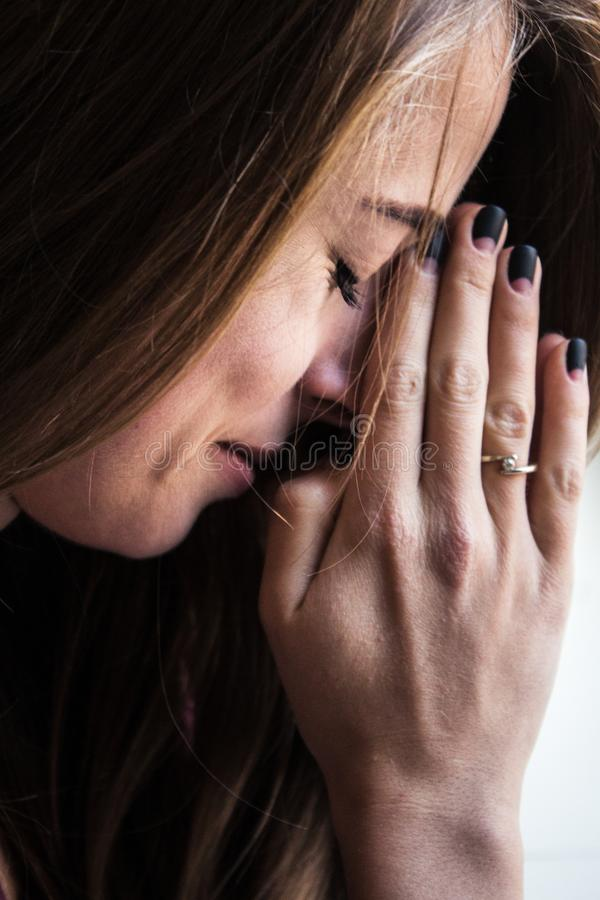 Woman praying religion inspiration royalty free stock photo