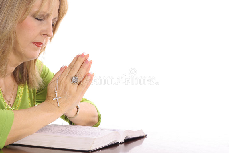 Download Woman praying over bible stock photo. Image of christian - 3774058