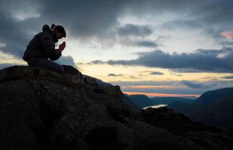 Woman Praying stock photos