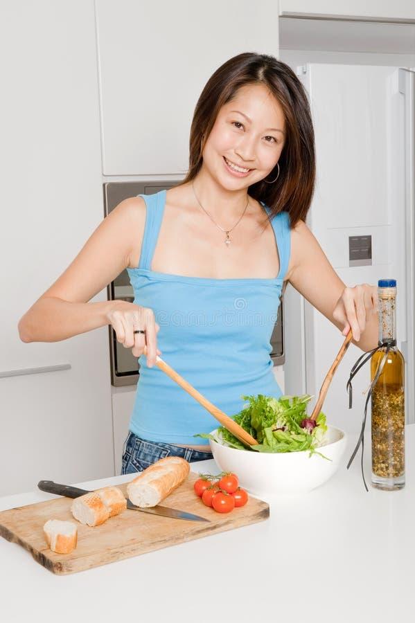 Woman Preparing Meal stock images