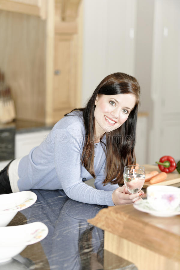 Download Woman Preparing A Meal In The Kitchen Stock Image - Image: 33522449