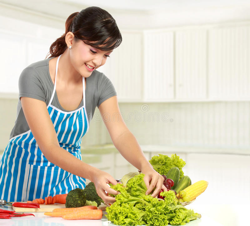 Download Woman Preparing Some Heathy Food Stock Photo - Image: 23131324