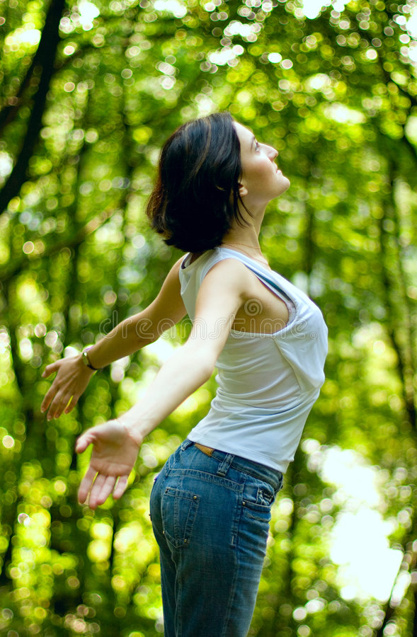 Download Woman preparing to fly stock photo. Image of ordinary - 7106008