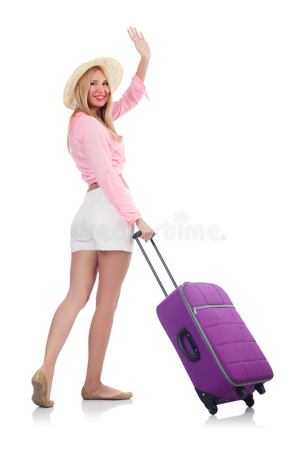 Download Woman preparing for travel stock image. Image of smile - 33965087