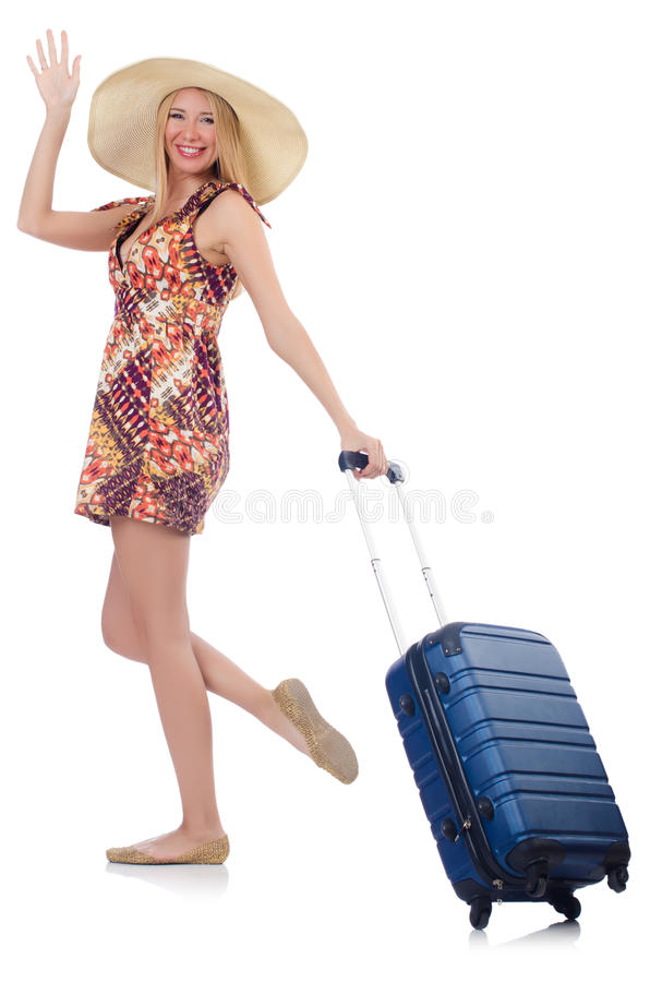 Download Woman preparing for travel stock image. Image of baggage - 33965355