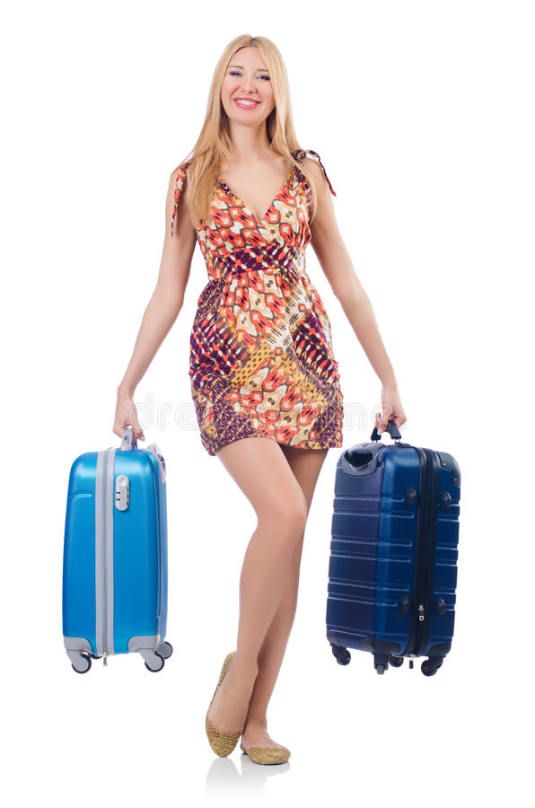 Woman Preparing For Travel Stock Photography