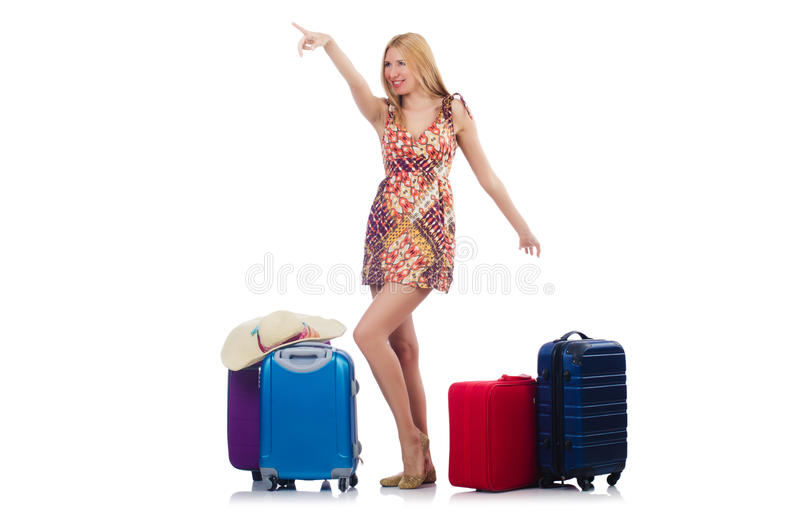 Download Woman preparing for travel stock image. Image of luggage - 35062925