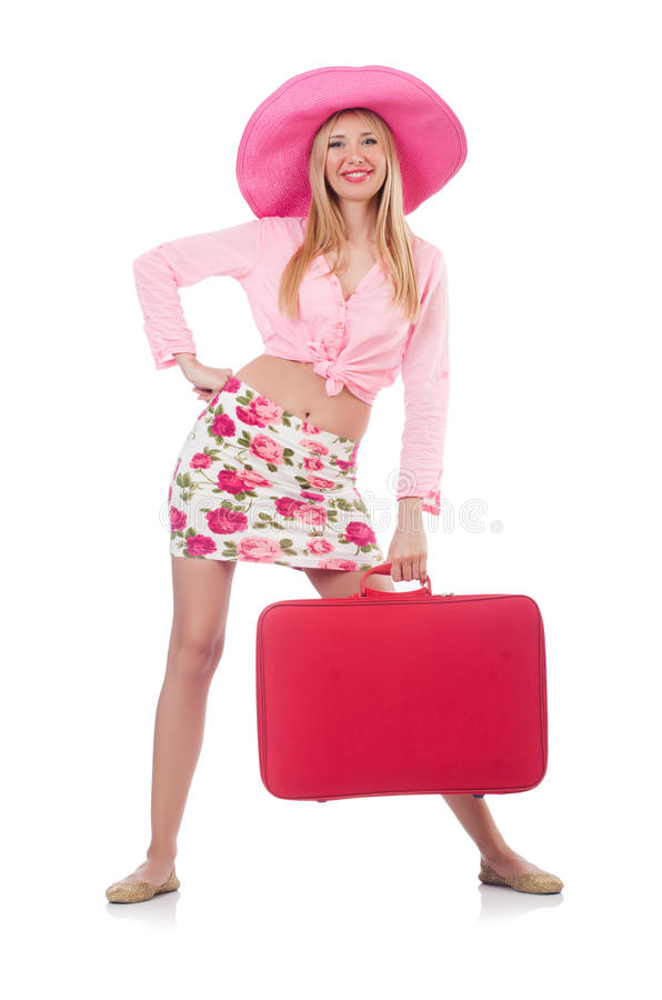 Download Woman preparing for travel stock image. Image of suitcase - 35063323