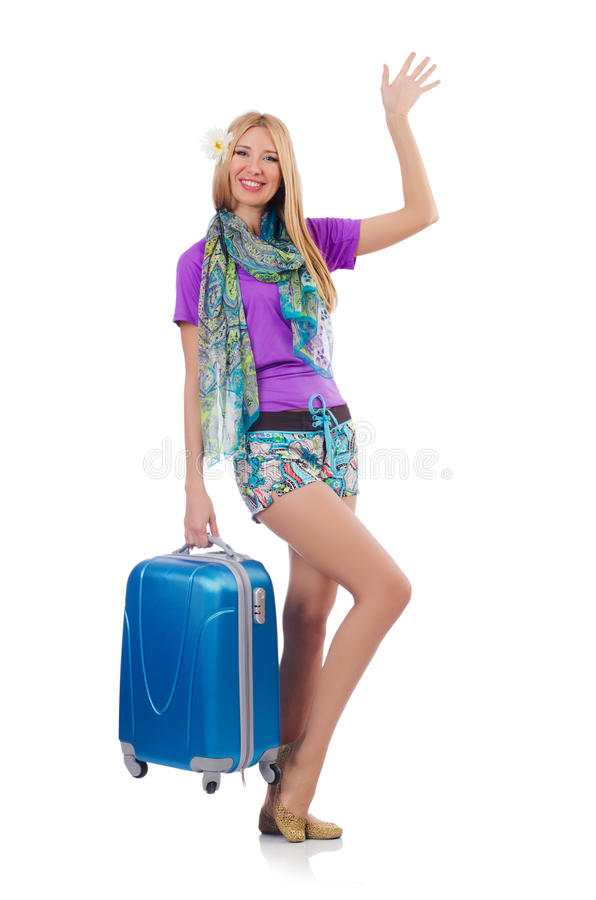 Download Woman preparing for travel stock image. Image of background - 36621271