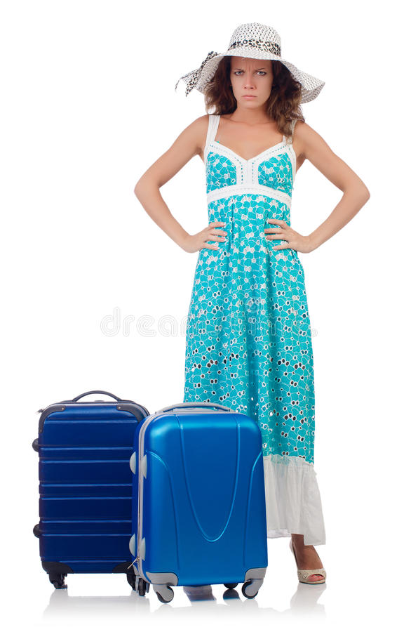 Download Woman preparing for travel stock photo. Image of suitcases - 39268636