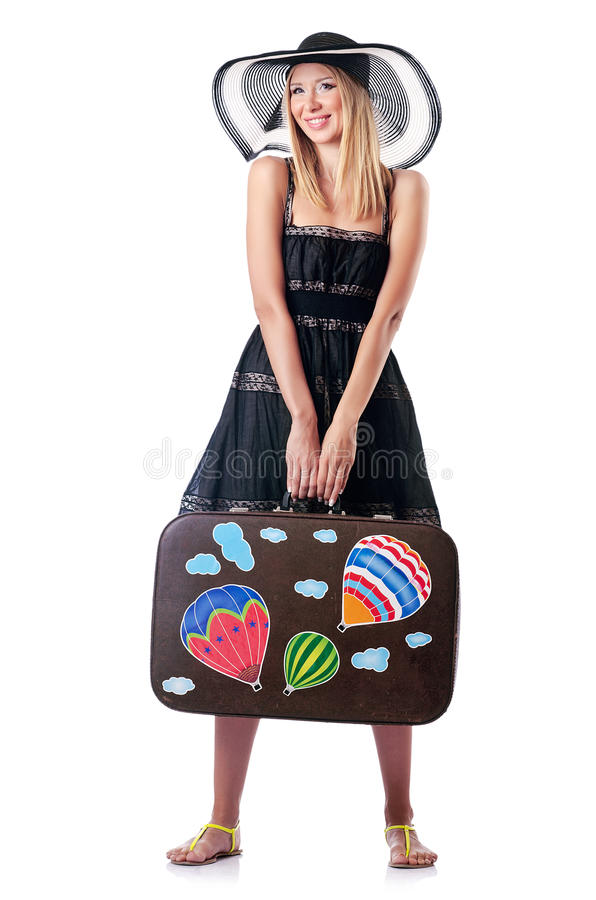 Woman Preparing For  Vacation Stock Photos
