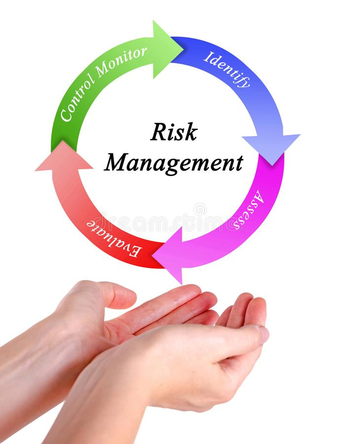 download risk management process stock image image of female 109244093
