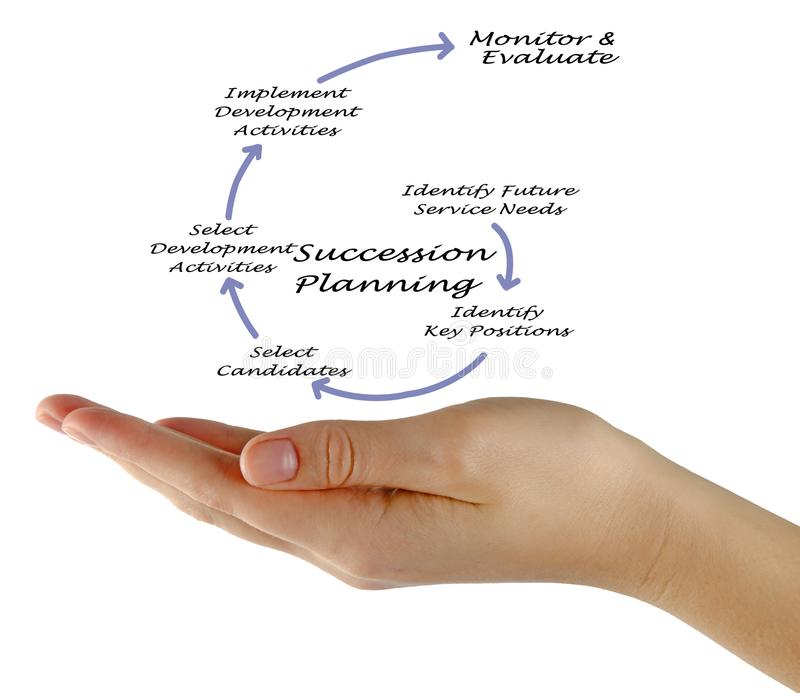 Succession Planning Process. Woman presenting Succession Planning Process stock image