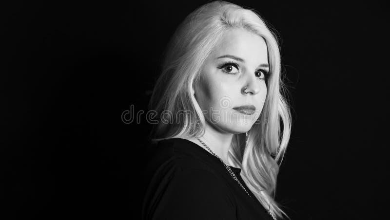 Woman with Professional Hair and Makeup Studio Shoot. Beautiful Woman with Professional Hair and Makeup Studio Shoot stock photo