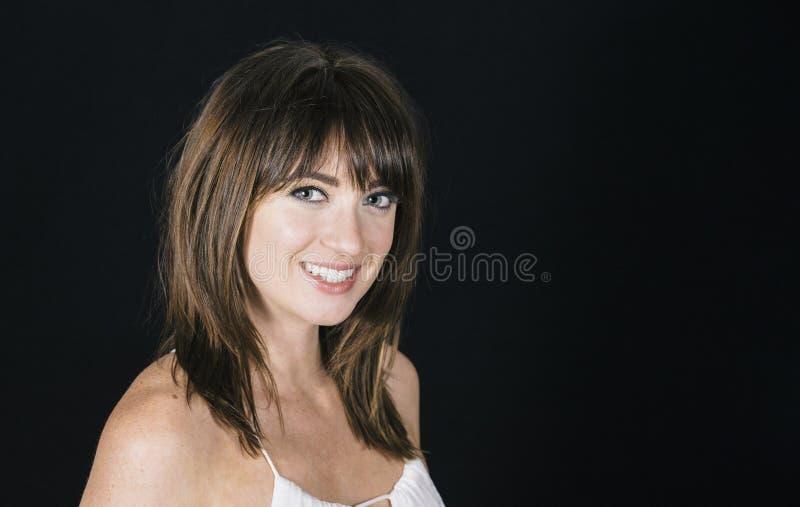 Woman with Professional Hair and Makeup Studio Shoot. Beautiful Woman with Professional Hair and Makeup Studio Shoot royalty free stock photo